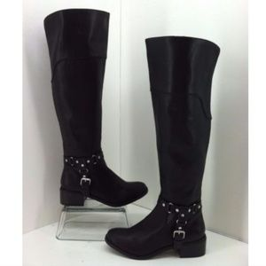 Dolce Vita Boots Size 6.5 Coup Black Faux Leather